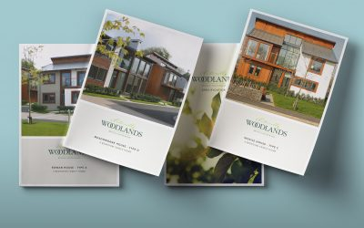 House Marketing Redesign Brochures for Naturally Woodlands Scheme