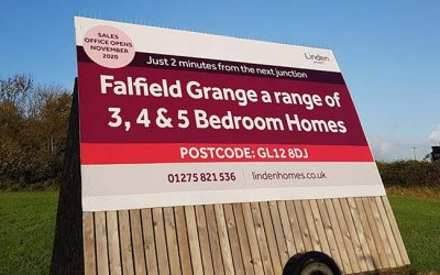 House Marketing design motorway signage for Linden Homes